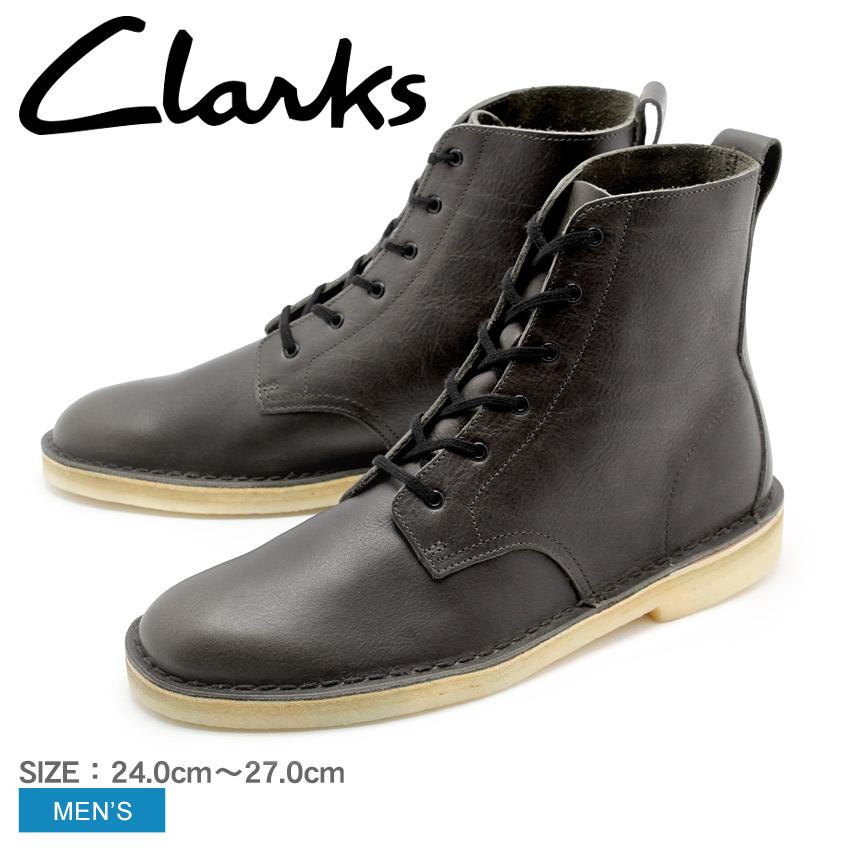 クラークス オリジナルス CLARKS ブーツ デザートマリ チャコール レザー DESERT MALI CHARCOAL LEATHER 26126522 靴 天然皮革 本革 クレープソール メンズ