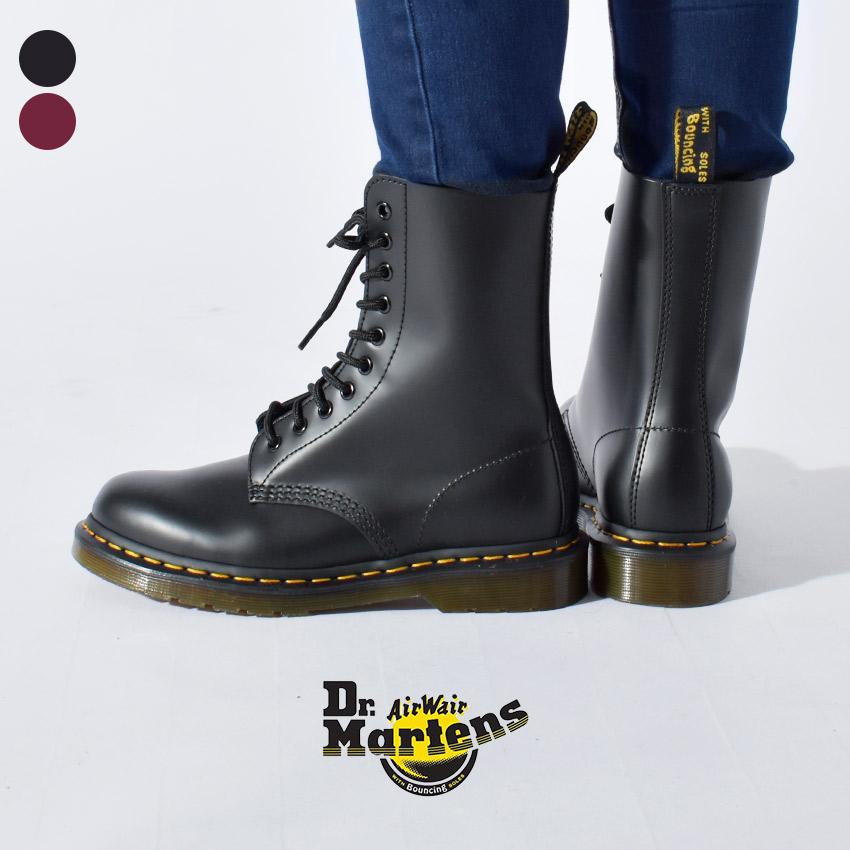 【最大500円引きクーポン】【Dr.Martens】 ドクターマーチン 10ホール ブーツ 1490 R11857001 R11857600 10HOLE BOOT メンズ レディース ブラック チェリーレッド 黒