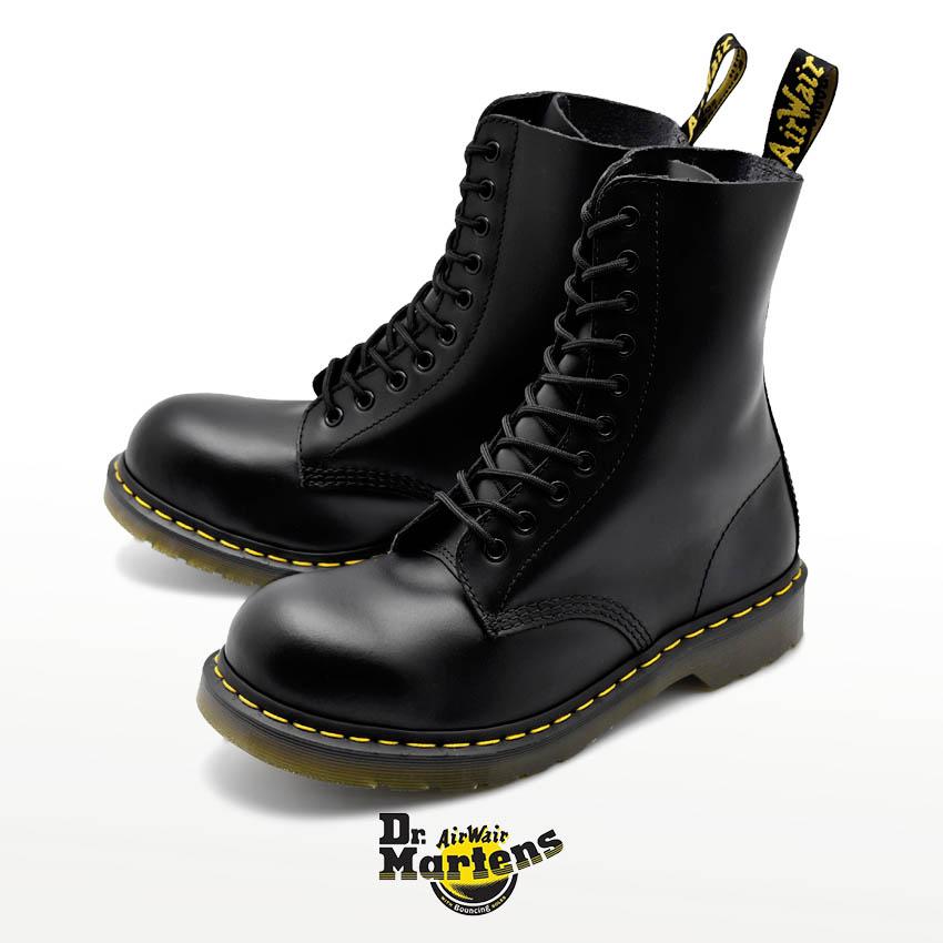 ドクターマーチン ブーツ DR.MARTENS ブラック 1919 スチールトゥ 10ホール 1919 STEEL TOE 10EYE BOOT 10105001 メンズ レディース:VIA TORINO インポートブランド