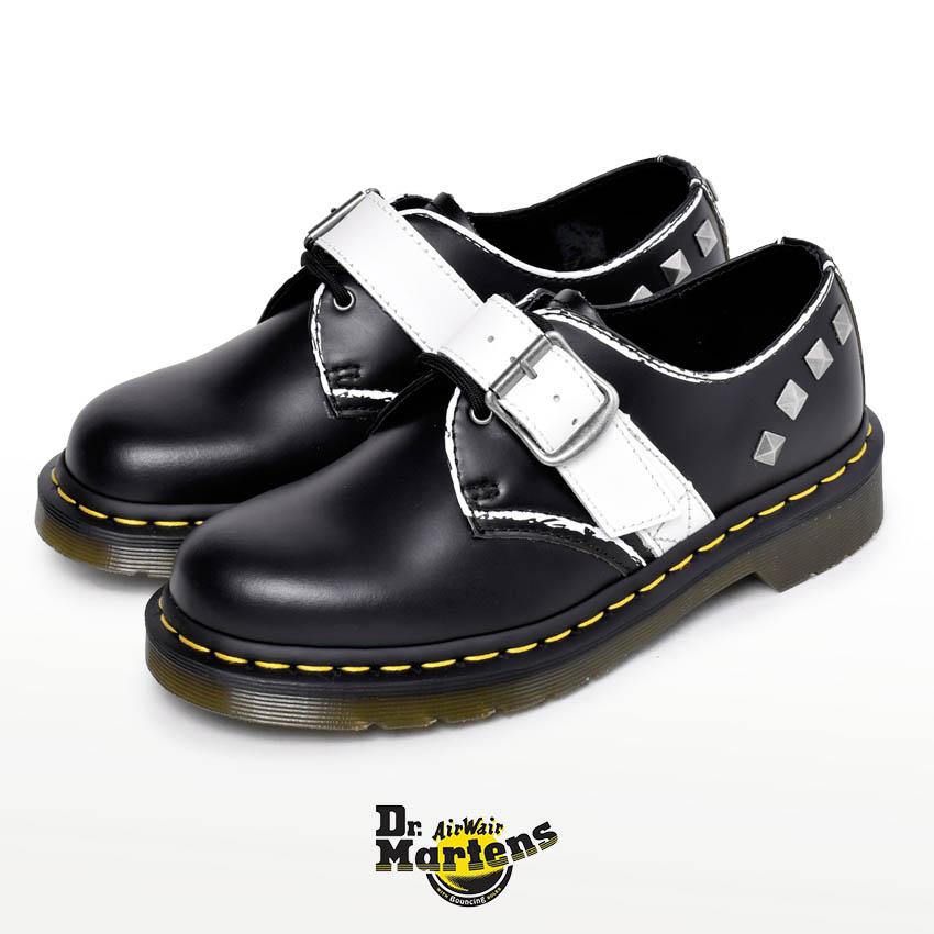 DR.MARTENS ドクターマーチン メンズ レディース 1461 マーチン ブランド ZANBELLO STUD 3ホール 靴 シューズ 天然皮革 革 本革 レザー カジュアル パンク スタッズ おしゃれ 白 黒 ビンテージ