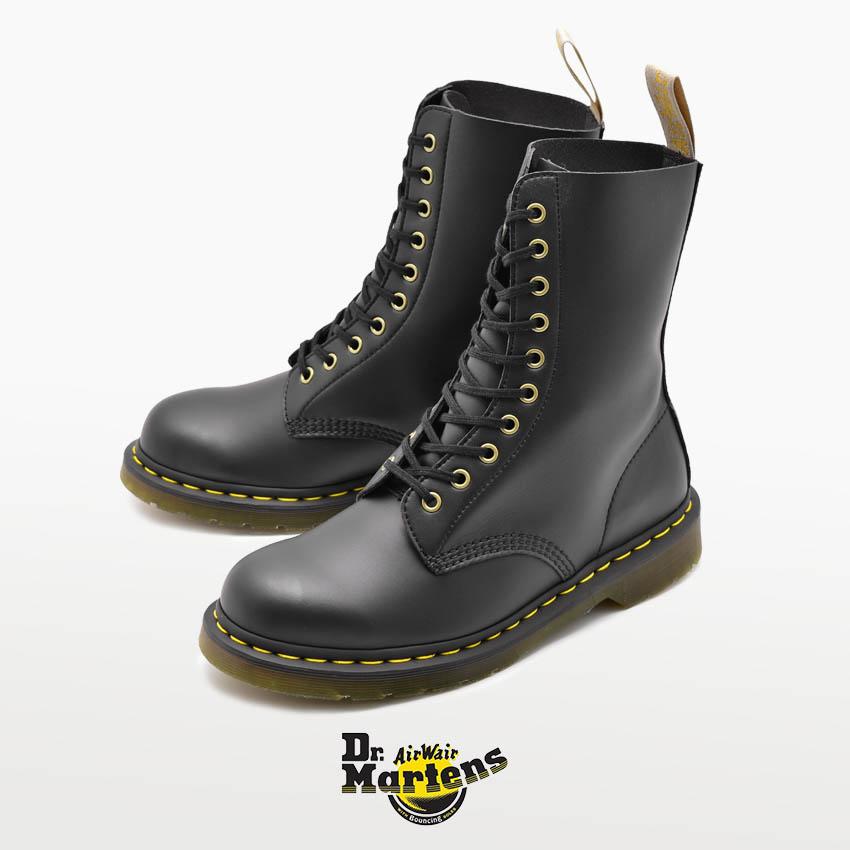 【最大500円引きクーポン】送料無料 【ドクターマーチン】1490 ビーガン 10ホール ブーツ ブラック DR.MARTENS 1490 VEGAN 10 EYE BOOTS R23981001 メンズ レディース