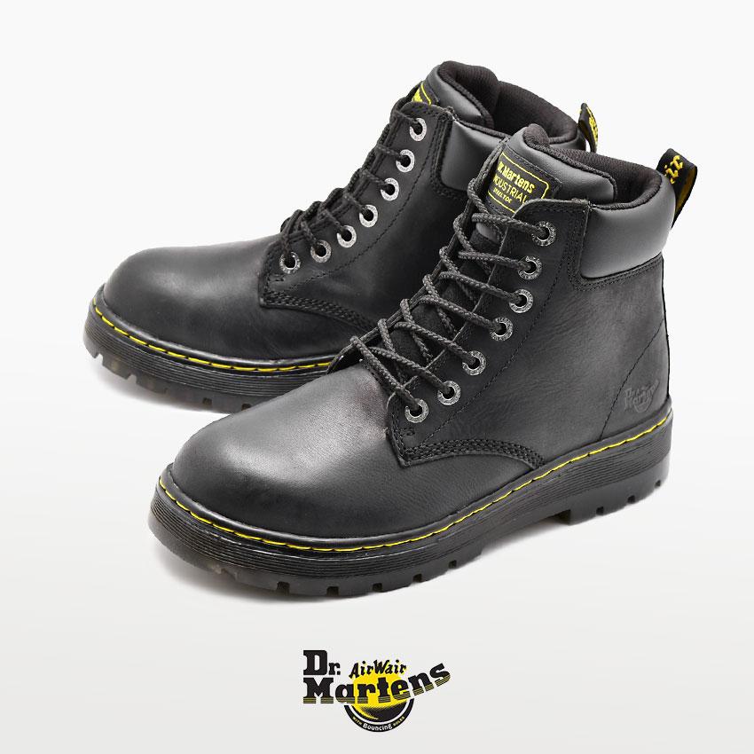 【ドクターマーチン】 ウィンチ スチールトゥ ブラック Dr.Martens WINCH STEEL TOE R16257001 メンズ セーフティーシューズ 安全靴 仕事 ボランティア DIY