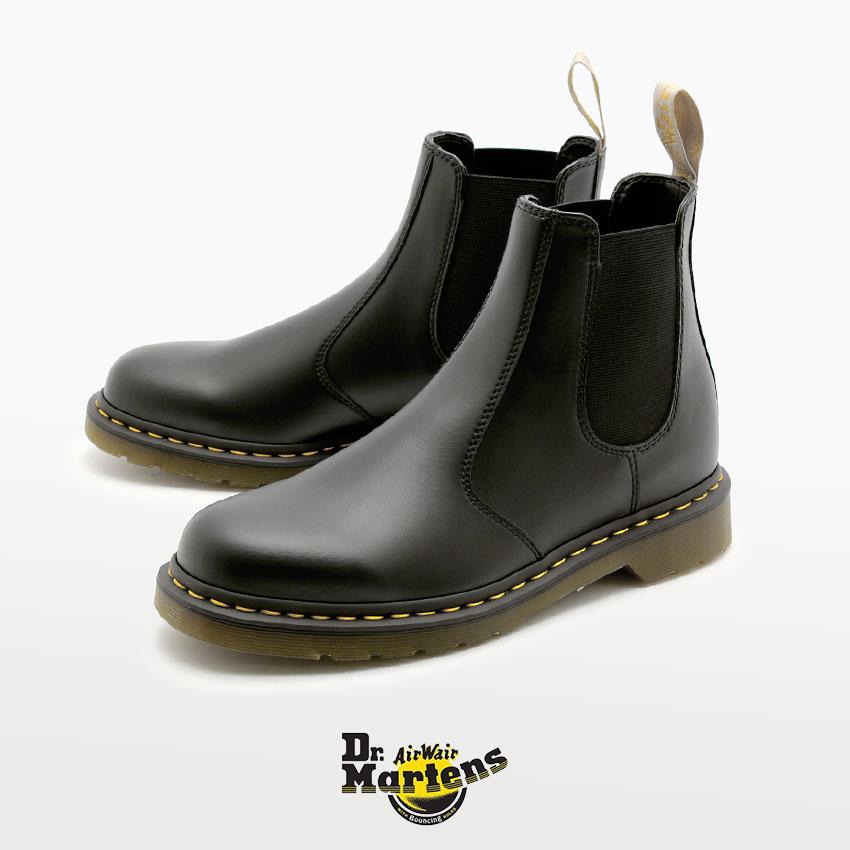 ドクターマーチン チェルシー ブーツ 2976 メンズ レディース Dr.Martens 21456001 FELIX RUB OFF VEGAN CHELSEA BOOT BLACK サイドゴア ビーガンレザー 黒 ブラック