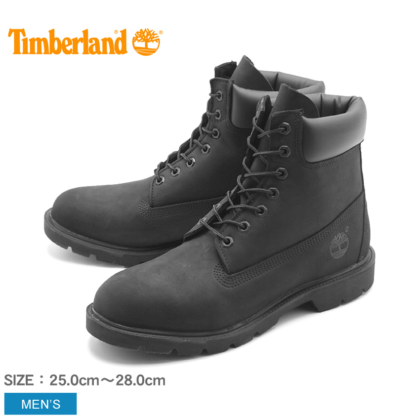 【TIMBERLAND】 ティンバーランド ブーツ 6インチ ベーシック スムース ブーツ ブラックヌバック (19039 6INCH BASIC BOOTS) 黒 ウォータープルーフ シューズ 天然皮革 靴 メンズ