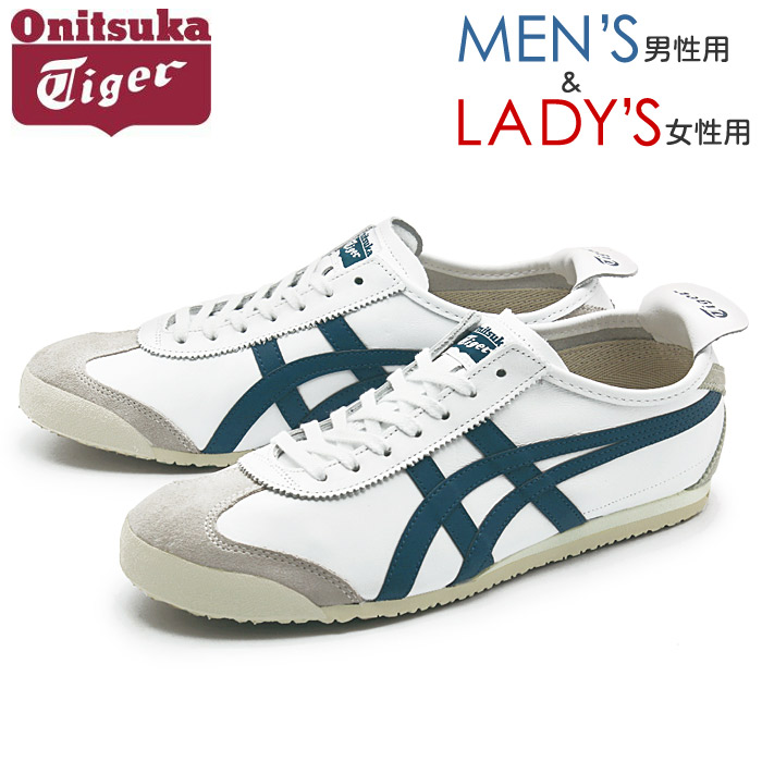 finest selection 32876 1645c Onitsuka tiger ONITSUKA TIGER sneakers Mexico 66 white X ink blue MEXICO 66  D4J2L 0145 ASICS shoes shoes low-frequency cut casual light blue men gap ...