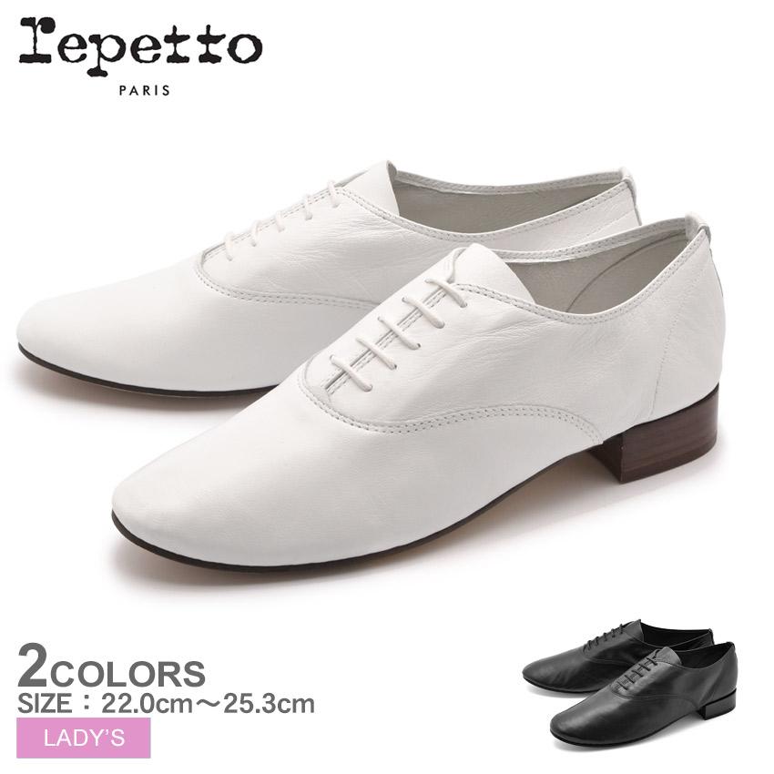【REPETTO】 レペット リシュリュージジ オックスフォード ドレスシューズ RICHELIEU ZIZI V377C 050 410 レディース レースアップ スムース レザー 革 黒 紐靴