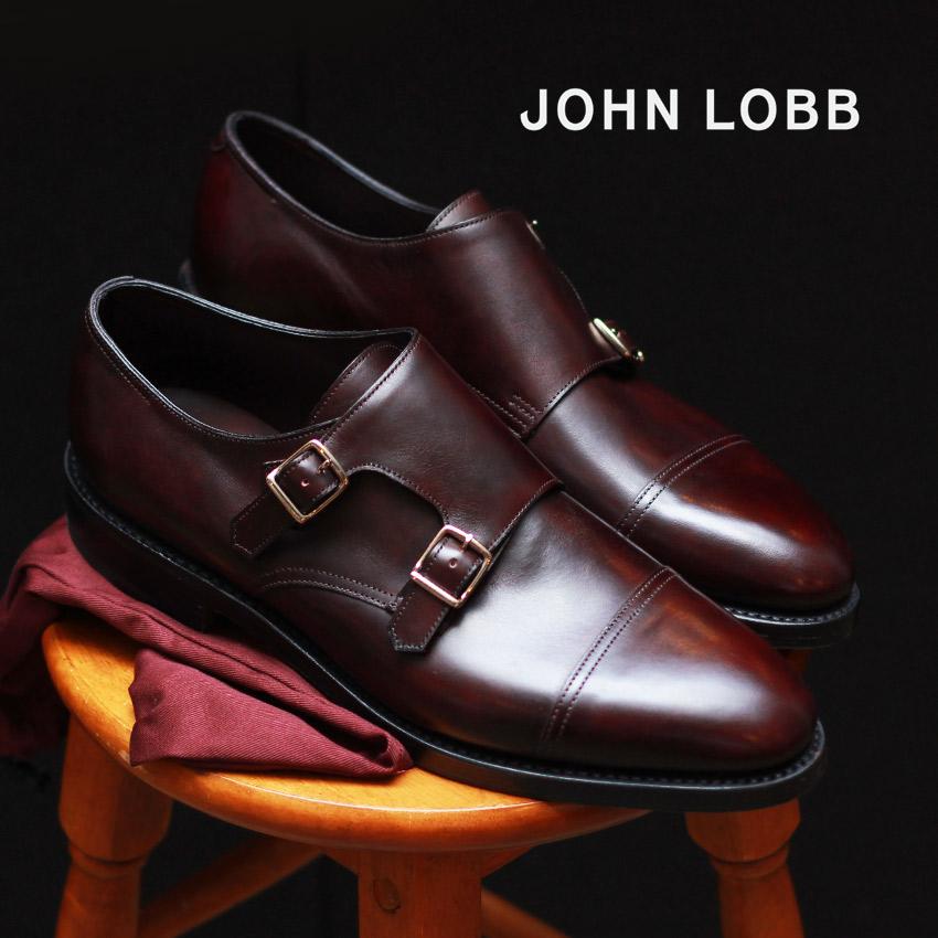 【JOHN LOBB】 ジョンロブ ウィリアム ドレスシューズ ブラウン WILLIAM 228192L 5U メンズ ダブルバックル ブランド 高級 人気 フォーマル ビジネス シューズ ベルト オフィス スーツ レザー 紳士靴 革 定番 革靴