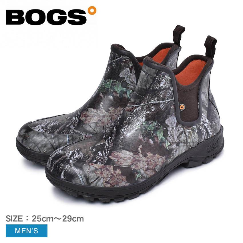 BOGS ボグス レインブーツ モッシーオーク ソービーキャンプ SAUVIE CAMP 72487 メンズ ショート ローカット おしゃれ 雨靴 長靴 防水 防滑 ブーツ ボタニカル柄 アウトドア フェス 黒