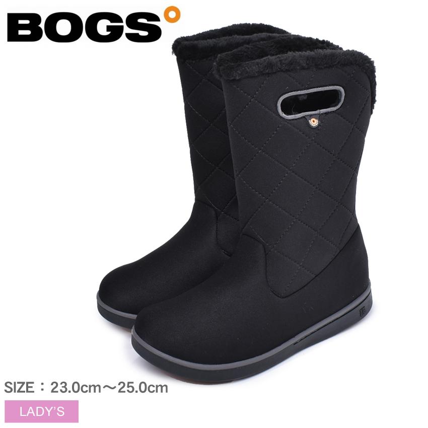 ボグス BOGS スノーブーツ ブラック ウィメンズ ミッド ブーツ キルティング WOMENS MID BOOT QUILTING 78716A 001 シューズ 雪 ブーツ ボア レインシューズ ファー ふわふわ 防水 防滑 保温 定番 黒 ブラック