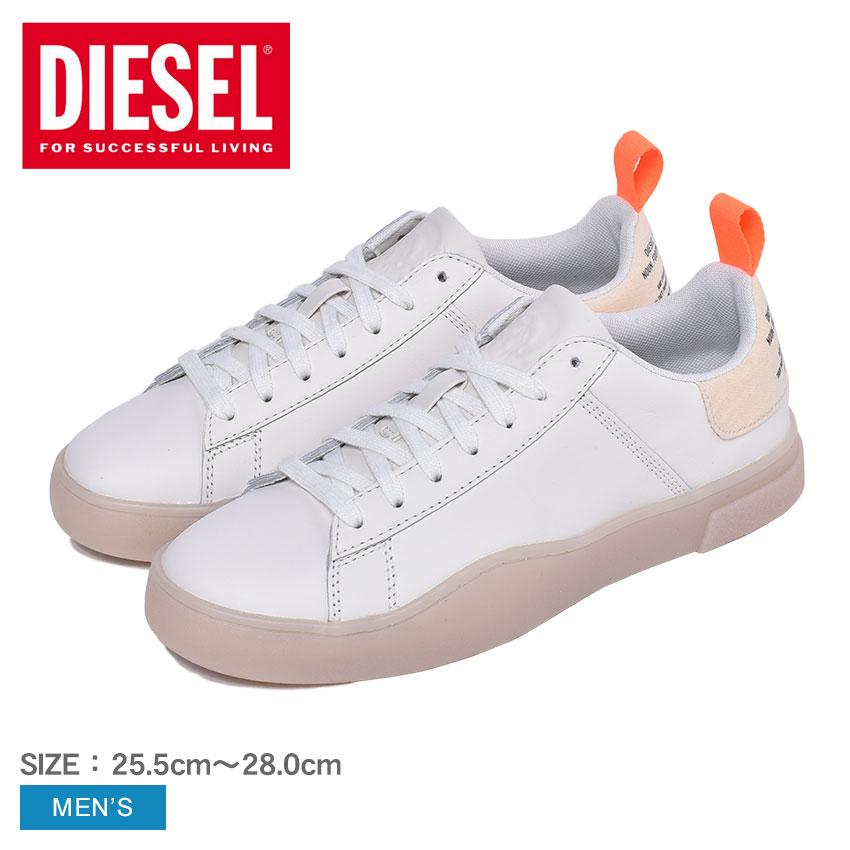 【DIESEL】 ディーゼル スニーカー メンズ シューズ ローカット ブランド カジュアル シンプル ベーシック スポーティ レザー 靴 白 おしゃれ S-CLEVER LOW LACE Y02045-P0766
