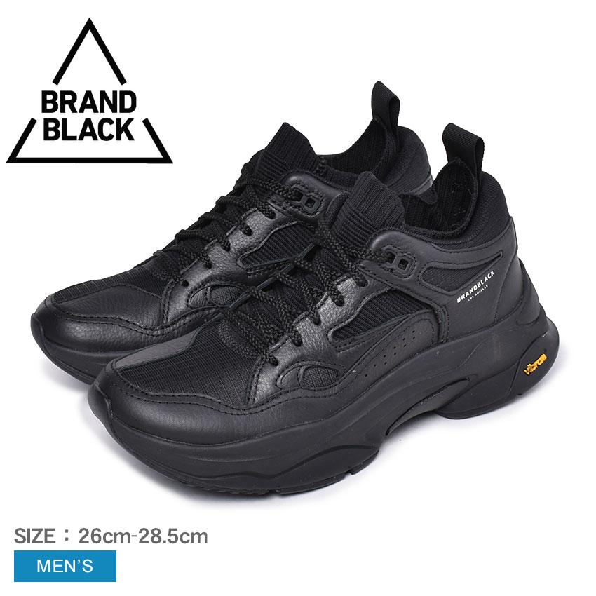 ブランドブラック メンズ BRAND BLACK ダッドシューズ ブランド ブラック スニーカー サガ SAGA 426BB スポーツ カジュアル ローカット 通学 通勤 学生 運動 靴 ブラック 黒 おしゃれ