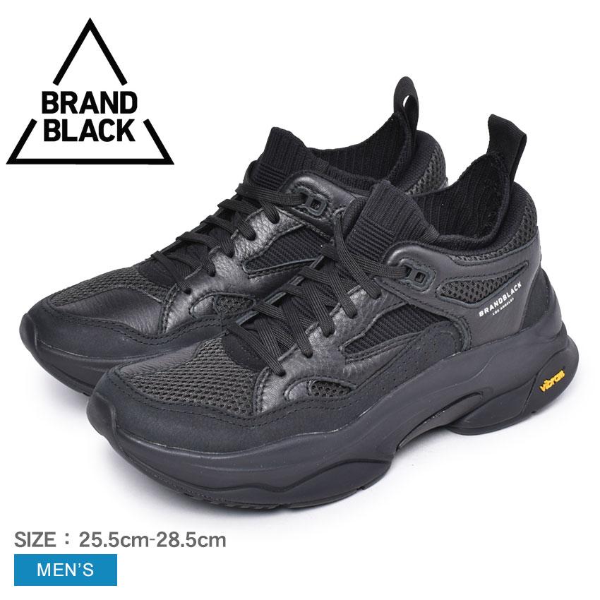 ブランドブラック スニーカー メンズ BRAND BLACK サガ 靴 シューズ 通勤 通学 カジュアル ブランド ローカット ダッドシューズ 厚底 おしゃれ ブラック 黒 426BB SAGA