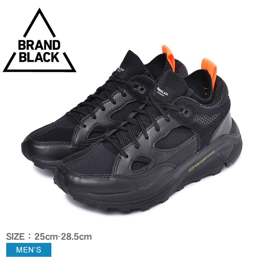 【BRAND BLACK】ブランドブラック スニーカー メンズ 黒 ブラック AURA アウラ 421BB スポーツ カジュアル ローカット ダッドシューズ 通学 通勤 学生 デイリーユース タウンユース 運動 靴 おしゃれ