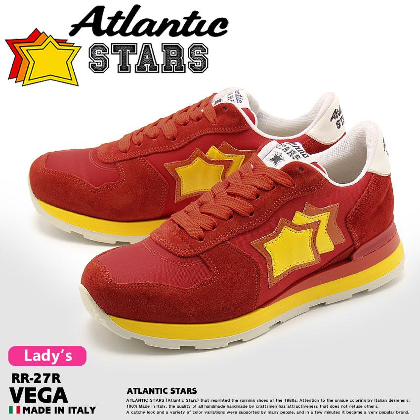 【ATLANTIC STARS】 アトランティックスターズ スニーカー レッド ベガ VEGA RR-27R レディース