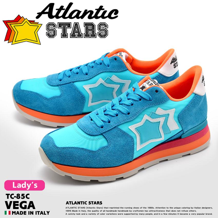 【最大500円引きクーポン】★送料無料 ATLANTIC STARS アトランティックスターズ スニーカー ブルーベガ VEGATC-85C レディース