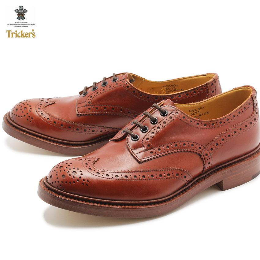 【最大500円引きクーポン】送料無料 トリッカーズ TRICKER'S TRICKERS バートン マロンアンティーク ダブルレザーソール(TRICKER'S 5633 COUNTRY BOURTON) カジュアルシューズ 革靴 メンズ MEN