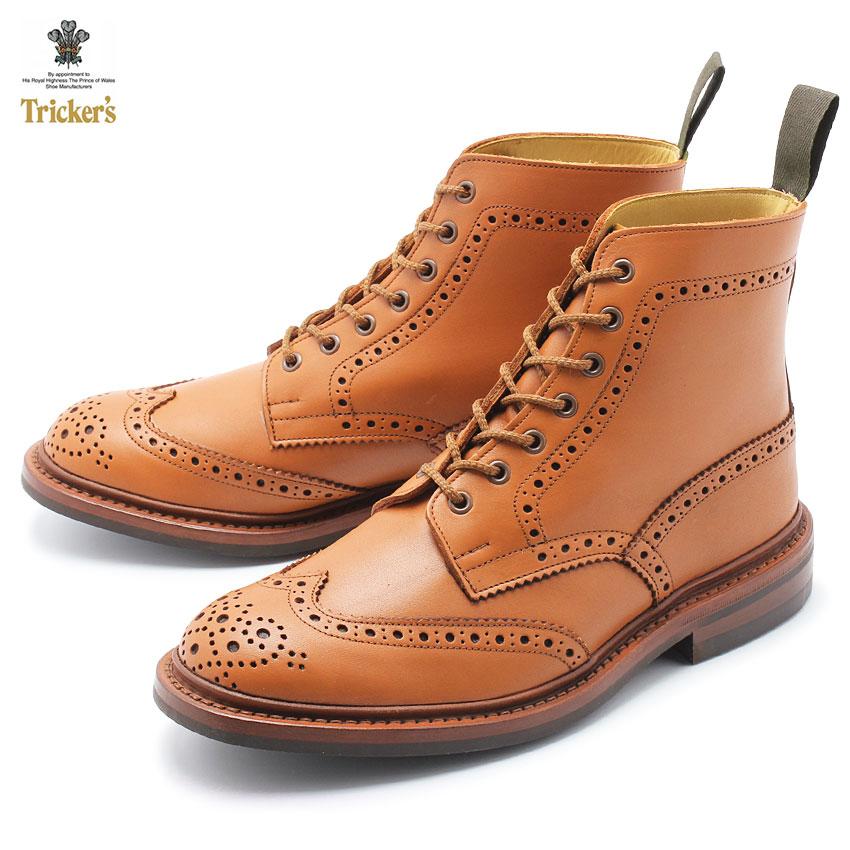 TRICKER'S トリッカーズ ブーツ ブラウン ストウ STOW 5634/57 メンズ カントリーブーツ ウイングチップ ドレスシューズ フォーマル 革靴 紳士靴 グッドイヤーウェルテッド製法