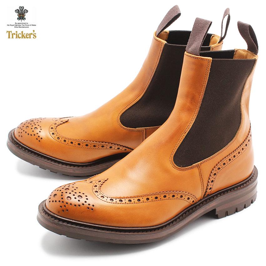 【TRICKERS】トリッカーズ ヘンリー 2754 1 HENRY ブーツ サイドゴア メンズ ウィングチップ コマンドソール バーニッシュ 革靴 レザー イギリス ブランド おしゃれ カジュアル ウェスタン