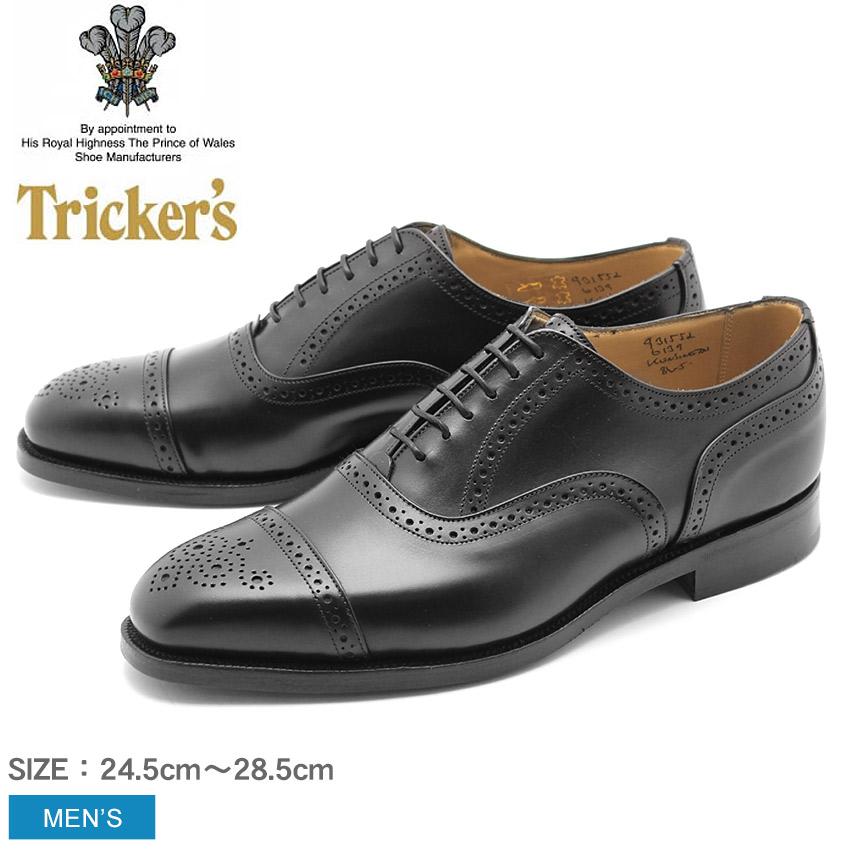 トリッカーズ TRICKER'S ケンジントン シングルレザーソール ブラックカーフ TRICKERS (TRICKER'S 6139 KENSINGTON) カジュアルシューズ 短靴 革靴 メンズ MEN