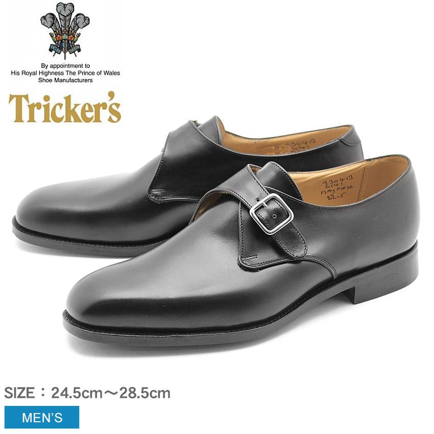 【最大500円引きクーポン】★送料無料 トリッカーズ TRICKER'S メイフェア シングルレザーソール ブラックカーフ シングルモンク ストラップ TRICKERS (TRICKER'S 6141 MAYFAIR) カジュアルシューズ 短靴 革靴 メンズ MEN