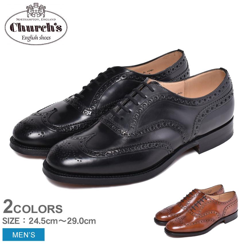 【CHURCHS】 チャーチ 紳士靴 革靴 ドレスシューズ 本革 レザー バーウッド BURWOOD EEB002 F0AKK F0AAB ブラウン ブラック おしゃれ メンズ