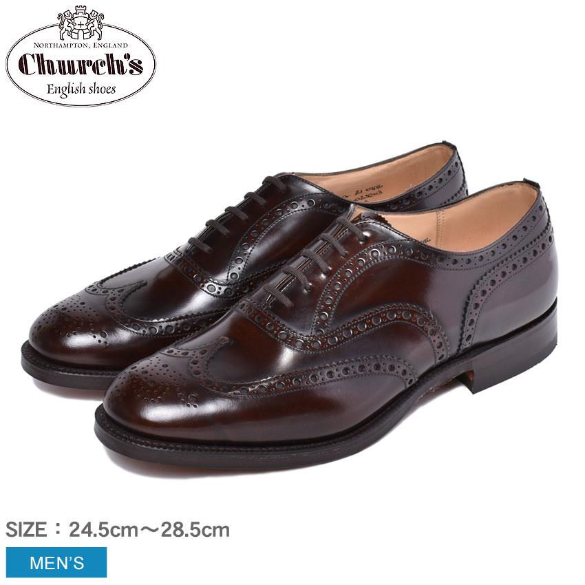 【最大500円引きクーポン】【CHURCHS】 チャーチ 紳士靴 ビジネスシューズ ドレスシューズ ブラウン バーウッド BURWOOD EEB002 F0DB1 メンズ 革靴 レザー オックスフォードシューズ トリプルソール