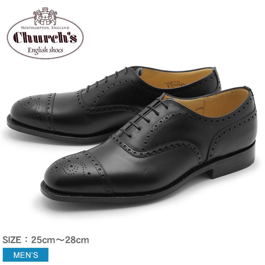 【最大500円引きクーポン】【CHURCHS】 チャーチ ディプロマット 173 ブラック ドレスシューズ CHURCH'S DIPLOMAT 173 S097794 7814/11 革靴 紳士靴 オックスフォードシューズ レザー ストレートチップ ブローグ 黒 メンズ ビジネス