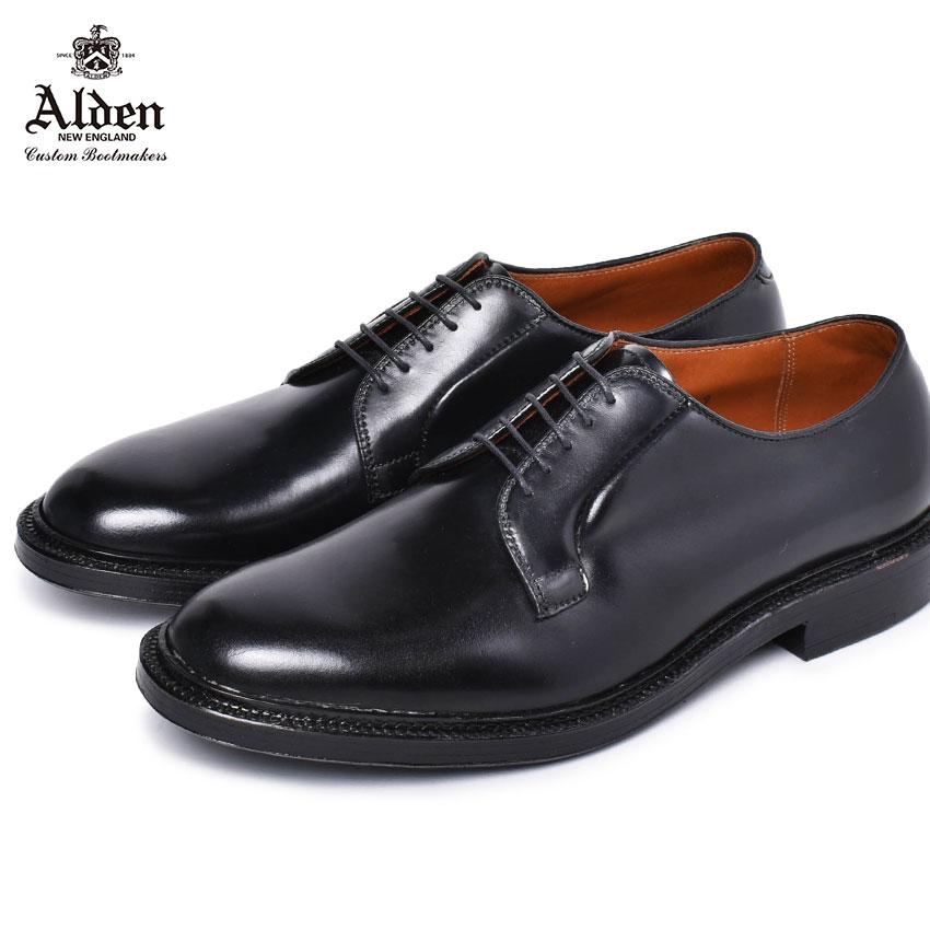 オールデン コードバン ALDEN 紳士靴 黒 革靴 レザー 本革 ブラック プレーントゥ ブルッチャー オックスフォード ビジネスシューズ 老舗 ブランド トラディショナル PLAIN TOE BLUCHER OXFORD 9901 メンズ