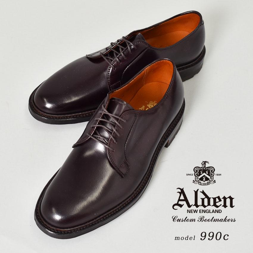 オールデン コードバン 990 ALDEN フォーマル ドレスシューズ メンズ 990c コマンド アウトソール ブランド シューズ ビジネス 馬革 革靴 靴 紳士靴 茶 通勤 大人 高級靴 COMMANDO OUTSOLE CORDOVAN