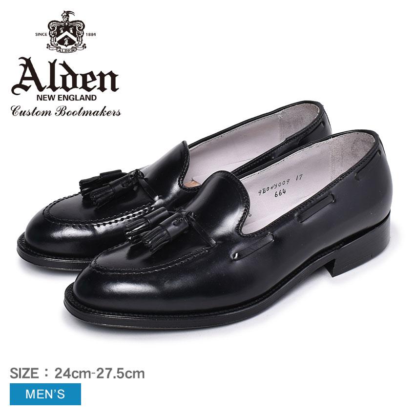 オールデン コードバン ALDEN ローファー タッセル メンズ タッセルローファー モカシン 靴 シューズ フォーマル ビジネス 通勤 通学 結婚式 冠婚葬祭 革靴 紳士靴 ブラック 黒 664 TASSEL MOCCASIN