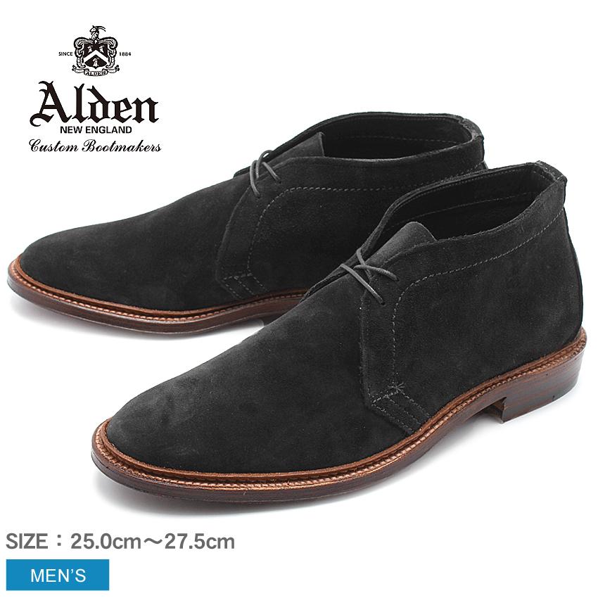 送料無料 紳士靴で不動の人気を誇るオールデンよりスエードチャッカブーツの登場  【ALDEN】 オールデン アンラインド チャッカーブーツ 紳士靴 革靴 ブラック UNLINED CHUKKA BOOT 1497 黒 短靴 トラディショナル ビジネス シューズ ドレス フォーマル スウェ-ド スエード