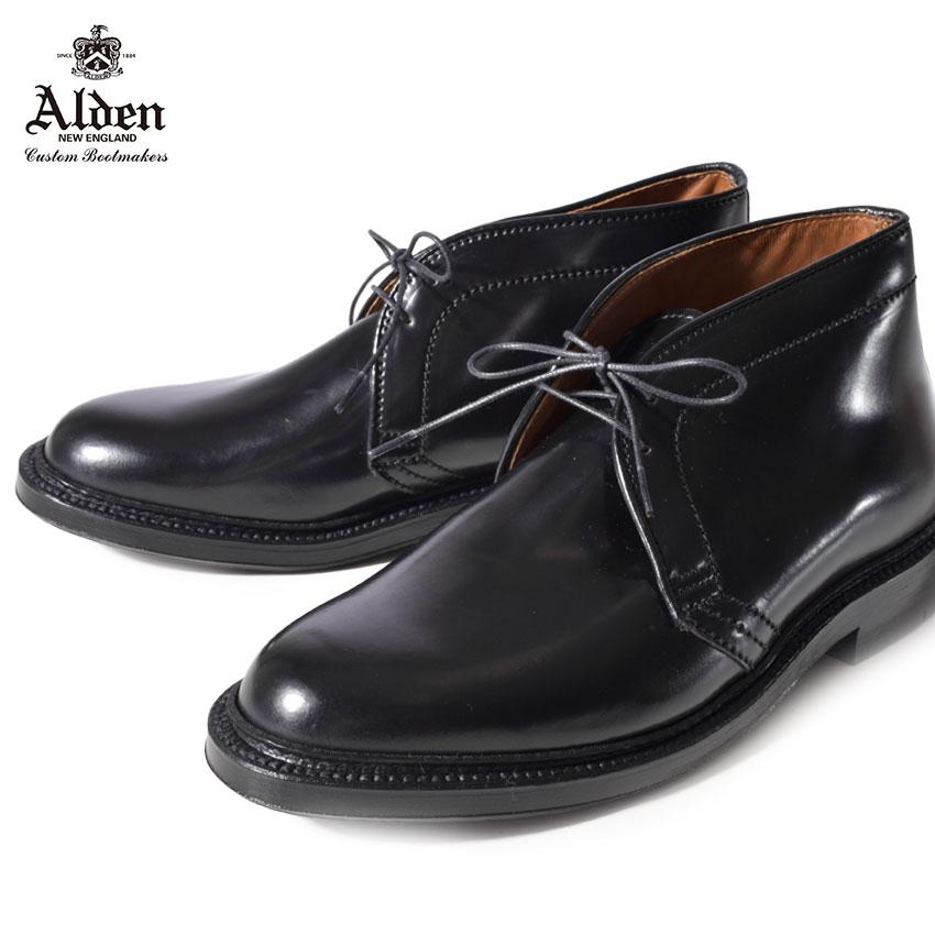 【最大500円引きクーポン】【ALDEN】 オールデン チャッカ ブーツ 紳士靴 黒 革靴 レザー 本革 ブラック ビジネスシューズ 老舗 ブランド コードバン CHUKKA BOOTS 1340 メンズ