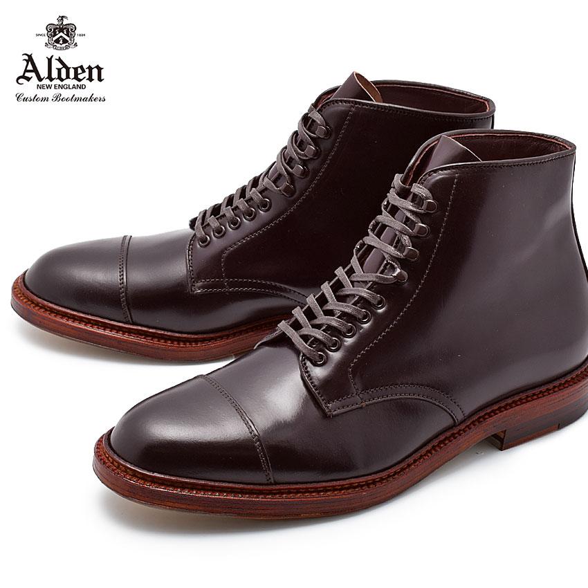 【ALDEN】 オールデン ストレートチップ ブーツ バーガンディ STRAIGHT CHIP BOOT M8804HY 紳士靴 高級 ブランド ドレス ビジネス シューズ トラディショナル 馬革 革靴 レザー