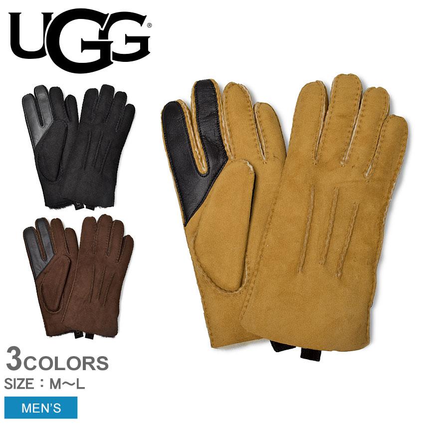 送料無料 【メール便可】 UGG アグ グローブ 手袋 メンズスマホ対応 シープスキン 3PT グローブ SHEEPSKIN 3PT GLOVE 17391 プレゼント