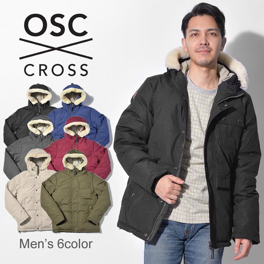 【限定クーポン配布】 【OSC CROSS】 オーエスシークロス ダウンジャケット メンズ 6色 ラサール LASALLE M02CX コート アウター 防寒 フード ボア 人気 ブランド 男性 ミドル丈