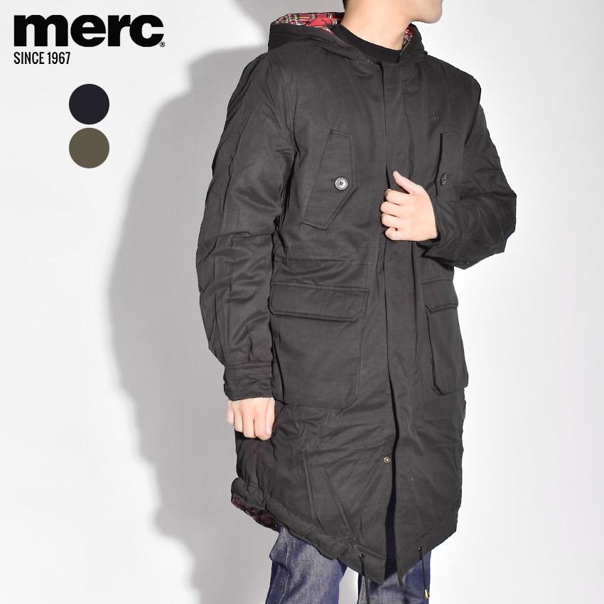 【限定クーポン配布】 MERC メルクロンドン ジャケット メンズ アウター ブランド シンプル ベーシック ロゴ ウェア 刺繍 定番 ポケット ダブルジップ 黒 上着 トビアス