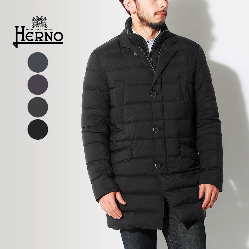 【限定クーポン配布】 HERNO ヘルノ ジャケット ダウン コート ブラック 他全4色 DOWN JACKET PI0374U-19288 8993 9225 9200 9300 アウター トップス ジップアップ ボタン 黒 メンズ
