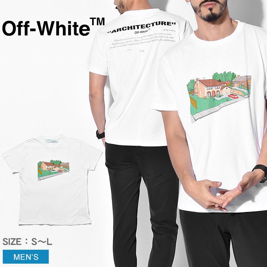 【限定クーポン配布】 【OFF-WHITE】 オフホワイト Tシャツ 半袖 シンプソンズ メンズ アーキテクチャ スキニーTシャツ ARCHITECTURE S/S SKINNY TEE OMAA036S1918 夏 服 トップス ブランド 高級 カジュアル ストリート おしゃれ キャラクター デザイン ロゴ