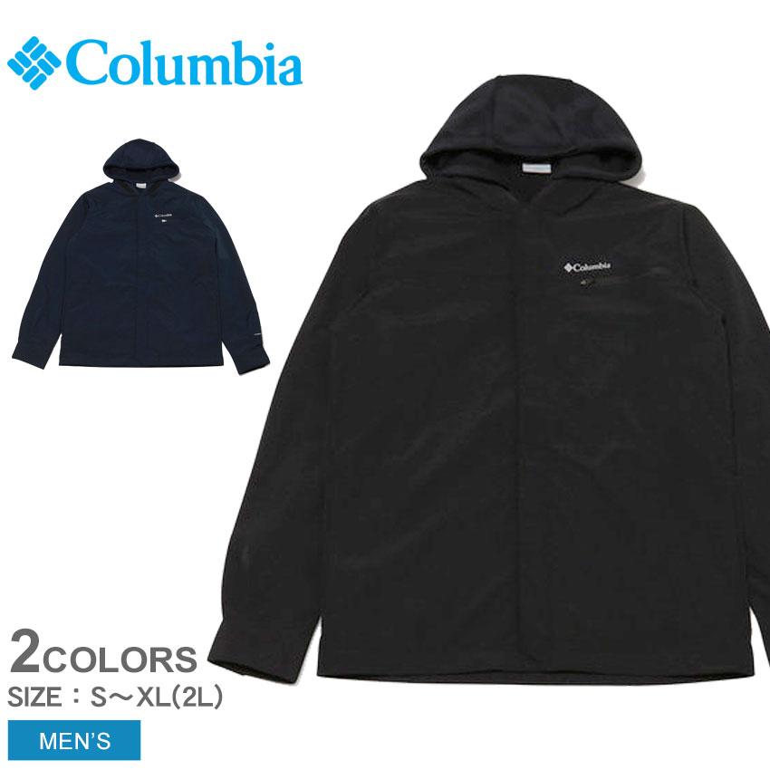 \SALE 37%OFF/ COLUMBIA コロンビア ジャケット テックトレイルシャツジャケットインターチェンジ メンズ キャンプ フェス アウター タウンユース ハイキング アウトドア シンプル カジュアル 普段使い 防風 防寒 撥水 上着 黒 紺 バレンタイン MS03A