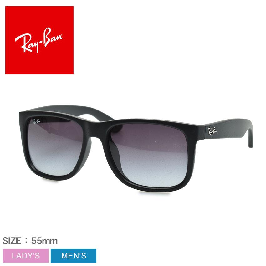 レイバン サングラス ジャスティン ブラック メンズ レディース RAY-BAN アジアンフィット 眼鏡 めがね 紫外線カット UVカット グレーレンズ RB4165F JUSTIN CLASSIC JPフィット ブラック系 黒ぶち グレーグラディエント