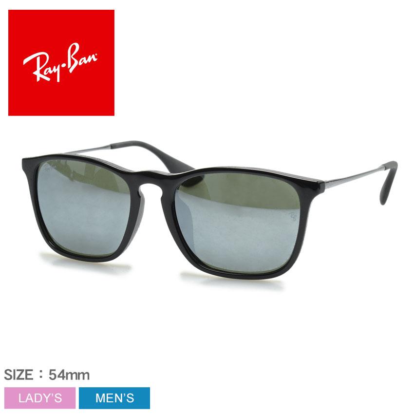 レイバン サングラス メンズ レディース RAY-BAN CHRIS FLASH JPフィット 眼鏡 めがね グラサン シンプル ミラーレンズ 紫外線カット UVカット おしゃれ 小物 JPフィット ブラック 黒 グリーン RB4187F