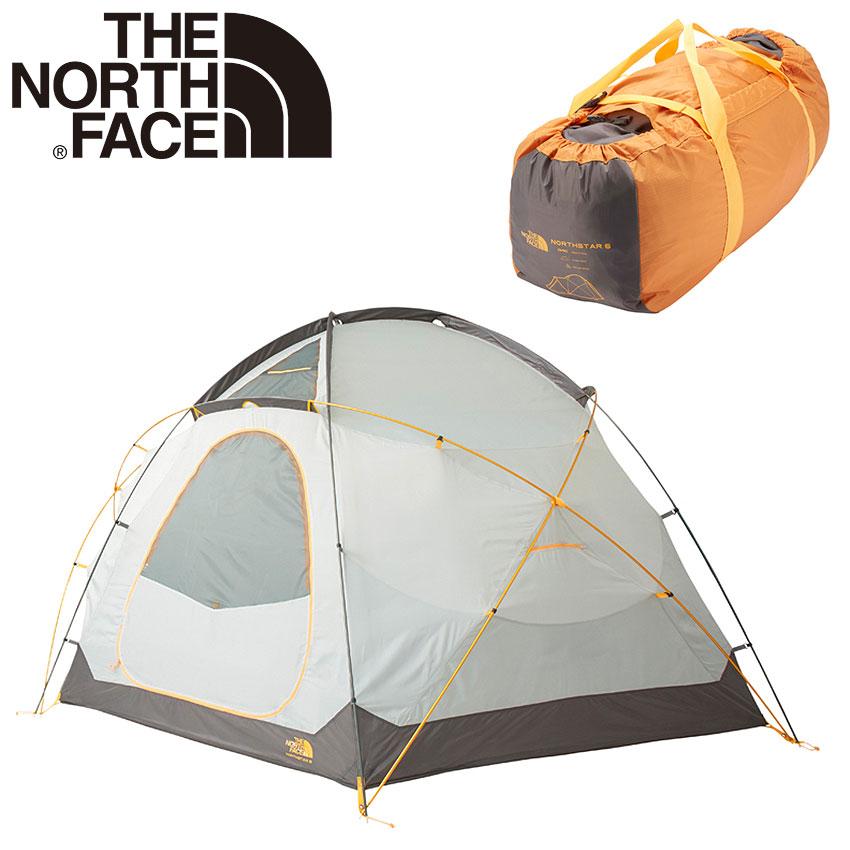 【THE NORTH FACE】 ザ ノースフェイス テント 6人用 耐風 広い キャンプ ノーススター6 NORTHSTAR 6 NV21803 GO ノースフェース アウトドア レジャー アクティビティ ベース フェス 海 持ち運び 組み立て 簡単