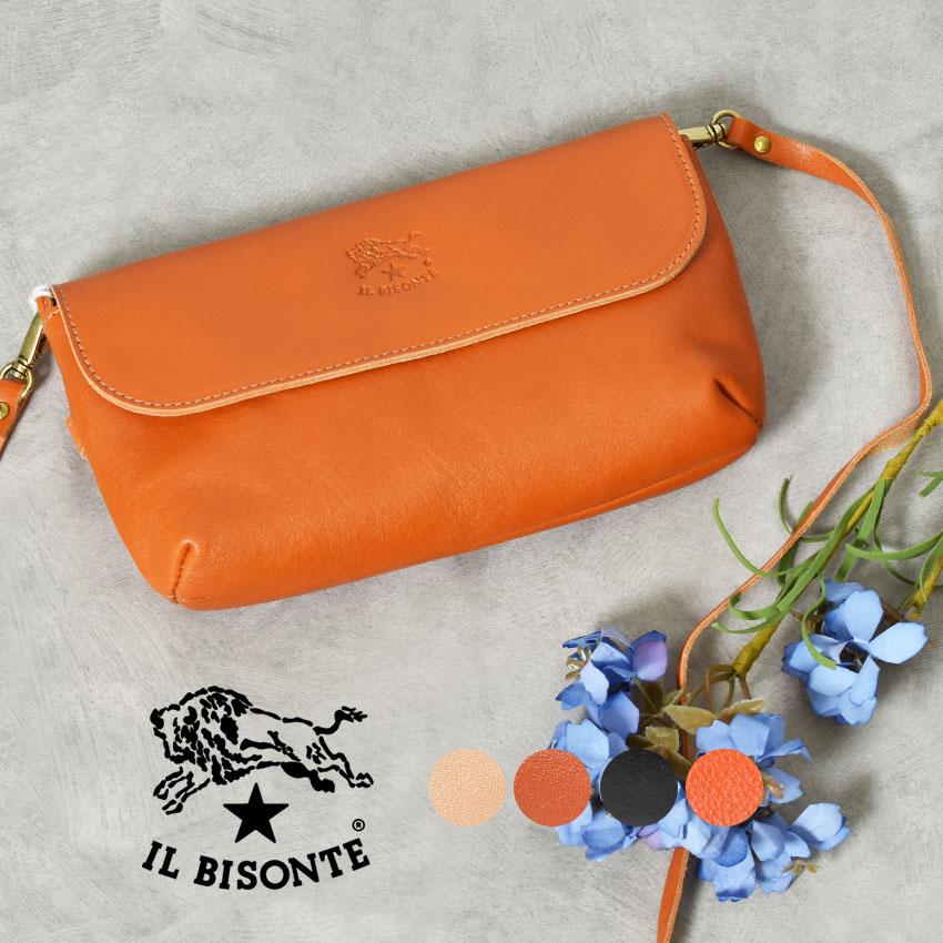 【ILBISONTE】 イルビゾンテ レザー ショルダーバッグ LEATHER SHOULDER BAG A2271TRP レディース 本革 人気 ブランド おしゃれ シンプル ポシェット 鞄 プレゼント