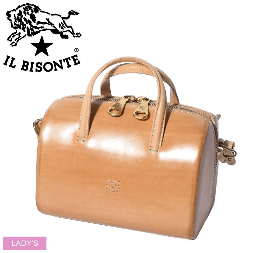 IL BISONTE イルビゾンテ ショルダーバッグ ボストンバッグ BOSTON BAG A2878 レディース 本革 人気 ブランド おしゃれ レザー シンプル 収納 贈り物 プレゼント ギフト カジュアル 長さ調節