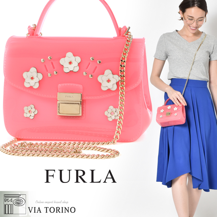 recognized brands price reduced new appearance フルラ FURLA candy lira Rose shoulder bag (FURLA 869500 CANDY LILLA SUGAR M  CROSSBODY) Lady's WOMEN brand bag high quality bag bag crossbody present  gift