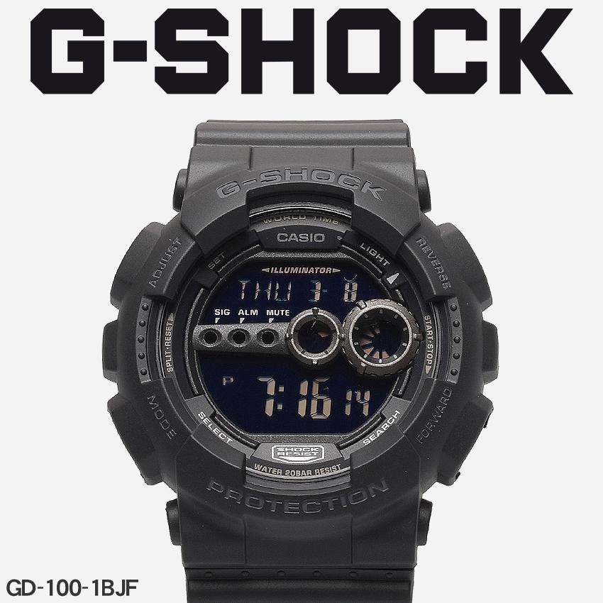 【最大500円引きクーポン】【お取り寄せ商品】 送料無料 G-SHOCK ジーショック CASIO カシオ 腕時計 ブラックGD-100GD-100-1BJF メンズ 【メーカー正規保証1年】