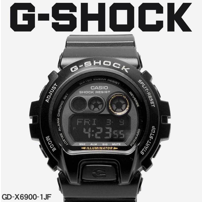 【最大500円引きクーポン】【お取り寄せ商品】 送料無料 G-SHOCK ジーショック CASIO カシオ 腕時計 ブラックGD-X6900GD-X6900-1JF メンズ 【メーカー正規保証1年】