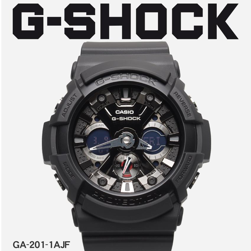 【最大500円引きクーポン】【お取り寄せ商品】 送料無料 G-SHOCK ジーショック CASIO カシオ 小物 腕時計 ブラックGA-201GA-201-1AJF メンズ 【メーカー正規保証1年】