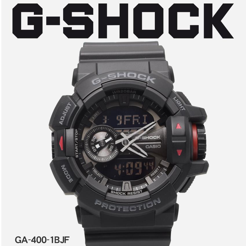 【最大500円引きクーポン】【お取り寄せ商品】 送料無料 G-SHOCK ジーショック CASIO カシオ 腕時計 ブラックGA-400GA-400-1BJF メンズ 【メーカー正規保証1年】