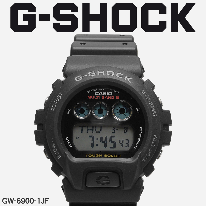 【最大500円引きクーポン】【お取り寄せ商品】 送料無料 G-SHOCK ジーショック CASIO カシオ 腕時計 ブラックDW-6900GW-6900-1JF メンズ 【メーカー正規保証1年】